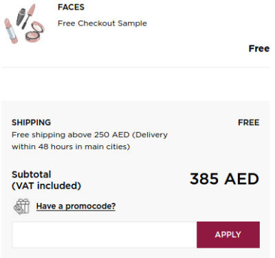 How to use Faces Coupon Codes