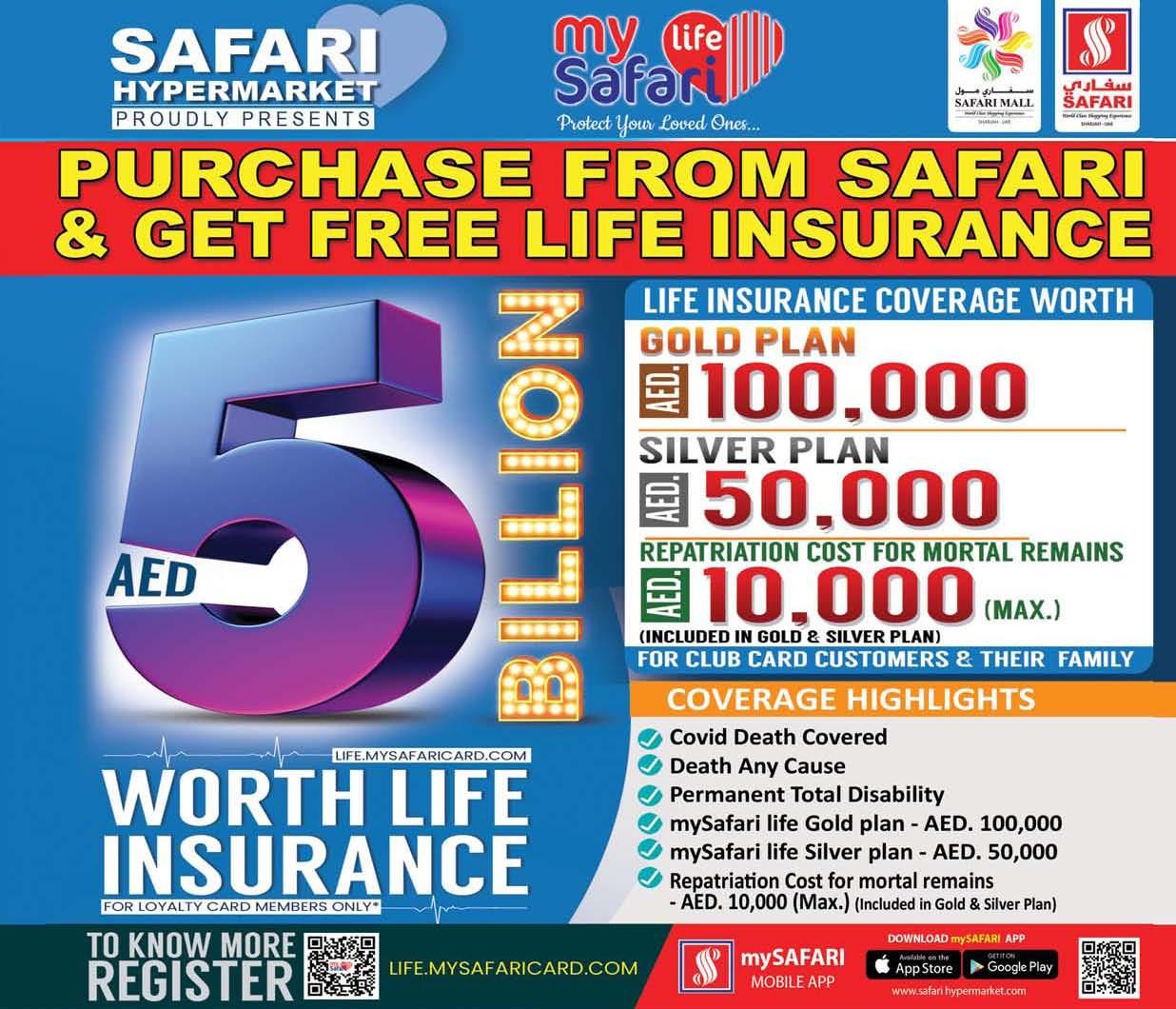 MySafari Life free Insurance
