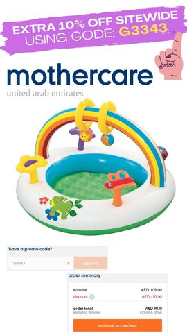 Mothercare discount promo coupon code voucher offer